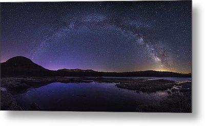 Milky Way Over Lonesome Lake Metal Print
