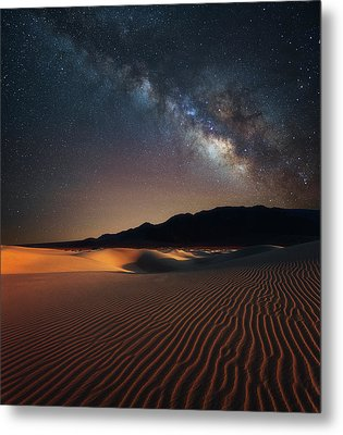 Milky Way Over Mesquite Dunes Metal Print by Darren White