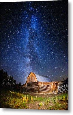 Milky Way Over Mormon Row Metal Print