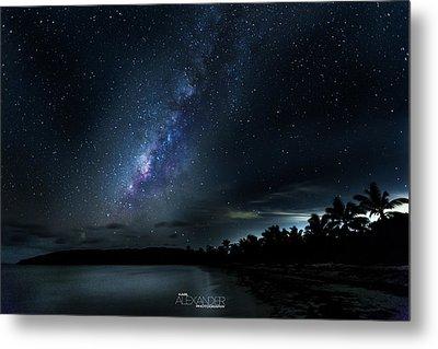 Milky Way Over Playa Navio Metal Print by Karl Alexander