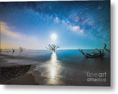 Milky Way Shore Metal Print
