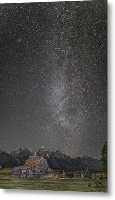 Milkyway Over The John Moulton Barn Metal Print by Roman Kurywczak