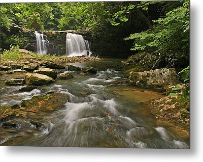 Mill Creek Falls  West Virginia Metal Print by Ulrich Burkhalter