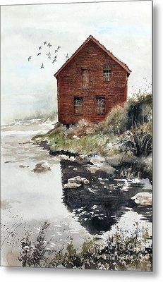 Mill Pond Metal Print by Monte Toon