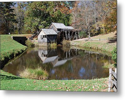 Metal Print featuring the photograph Mill Reflections by Eric Liller