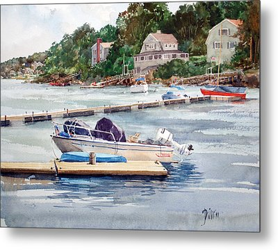 Mill River Gloucester Metal Print by Peter Sit