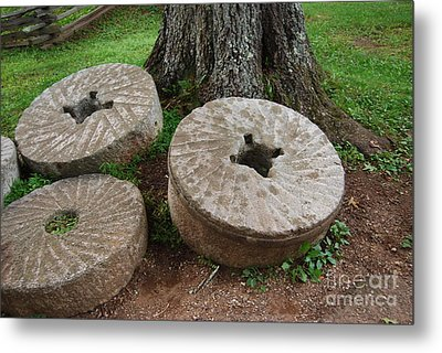 Mill Stone Metal Print by Eric Liller