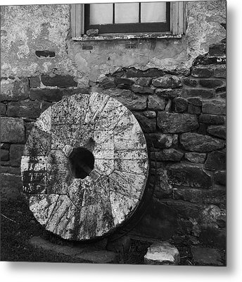 Mill Stone Metal Print by Val Arie
