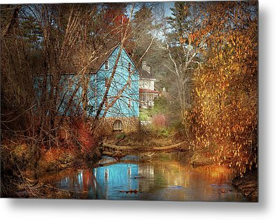 Mill - Walnford, Nj - Walnford Mill Metal Print by Mike Savad