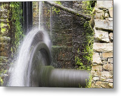 Mill Wheel Metal Print