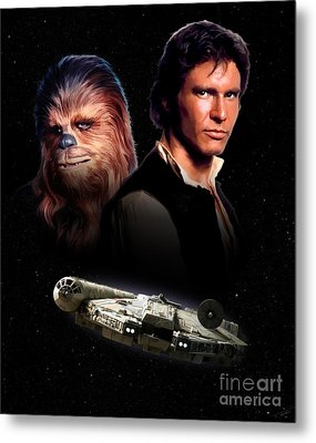 Han Solo - Millenium Falcon Metal Print