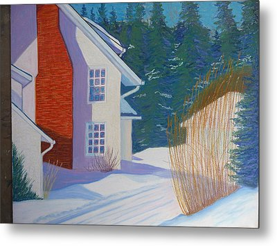 Mills House -chester Metal Print by Rae  Smith