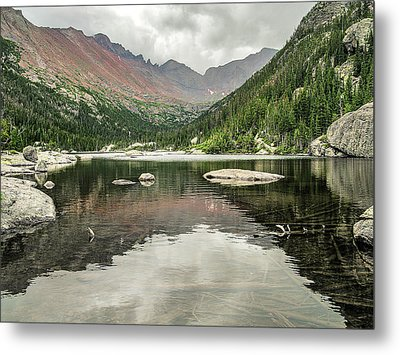 Mill's Lake View Metal Print