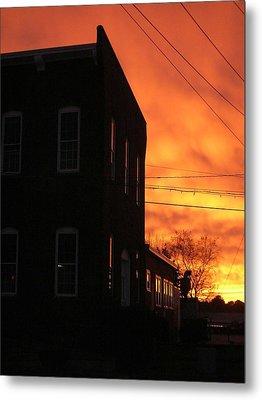 Millyard Sunset Metal Print by Nancy Ferrier