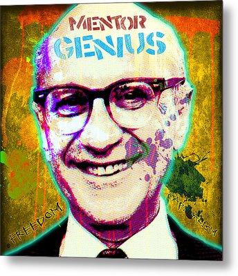 Milton Friedman Metal Print by Gary Grayson