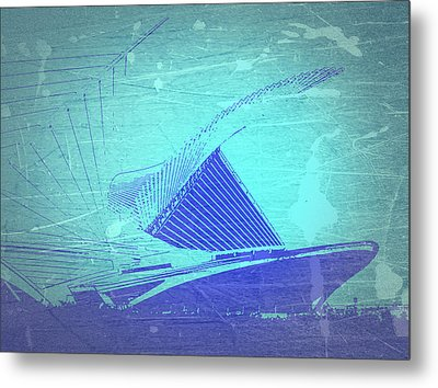 Milwaukee Art Museum Metal Print by Naxart Studio