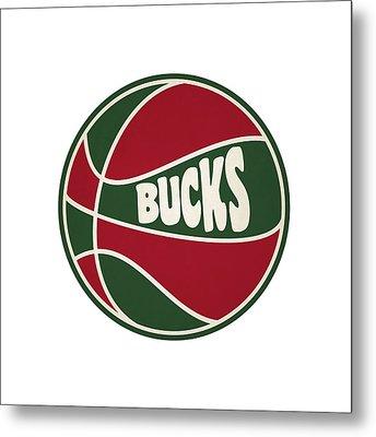 Milwaukee Bucks Retro Shirt Metal Print