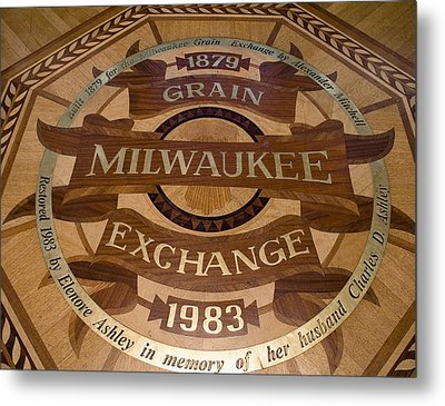 Milwaukee Grain Exchange Metal Print