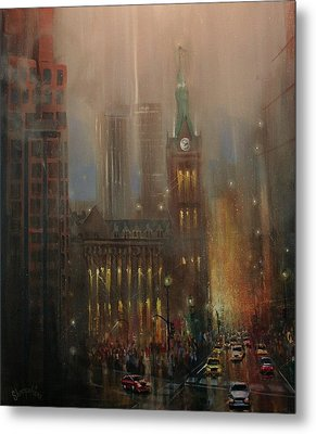 Milwaukee Rain Metal Print by Tom Shropshire