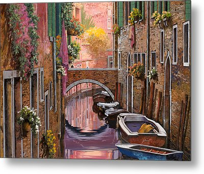 Mimosa Sui Canali Metal Print by Guido Borelli