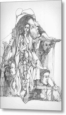 Mind And Body Metal Print by Padamvir Singh
