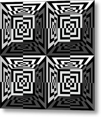 Mind Games 3d 1b Metal Print by Mike McGlothlen