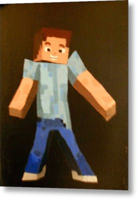 Minecraft Steve Metal Print