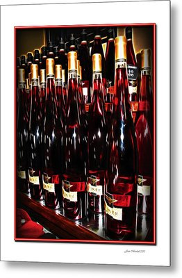 Metal Print featuring the photograph Miner Pink Sparkling Wine by Joan  Minchak