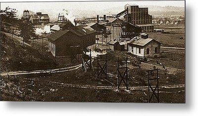 Mineral Springs Colliery Parsons Gravel Hill Scranton Patch Area Of Wilkes Barre Pa 1913 Metal Print