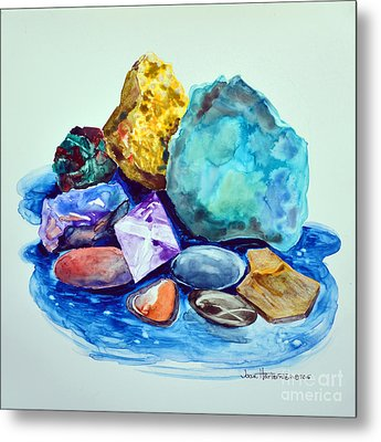 Minerals And Beachstones Metal Print