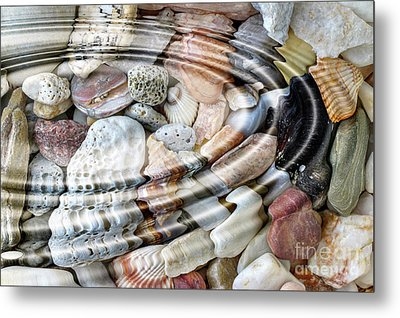Metal Print featuring the digital art Minerals And Shells by Michal Boubin