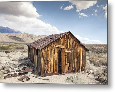 Miner's Shack In Benton Hot Springs Metal Print