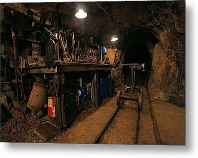 Miner's Toolshed Metal Print by Mike Flynn