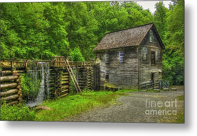Metal Print featuring the photograph Mingus Mill 3 Mingus Creek Great Smoky Mountains Art by Reid Callaway