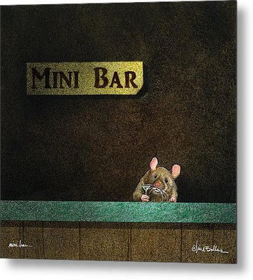 Metal Print featuring the painting Mini Bar... by Will Bullas