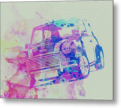Mini Cooper Metal Print by Naxart Studio