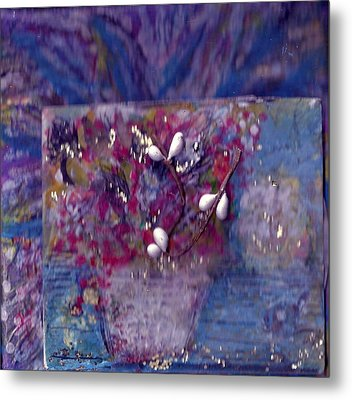 Miniature Moment Flowers Metal Print by Anne-Elizabeth Whiteway