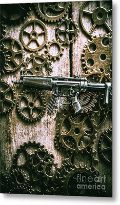 Miniature Mp5 Submachine Gun Metal Print