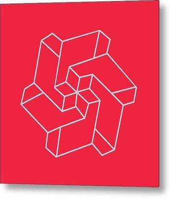 Minimal    Chakra Symbol Art Optical Illusion Star Metal Print