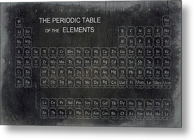 Minimalist Periodic Table Metal Print by Daniel Hagerman