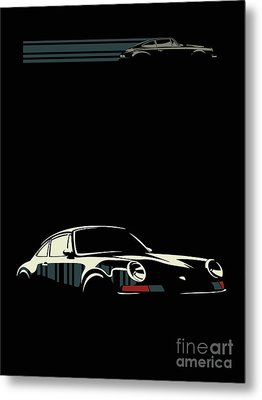 Minimalist Porsche Metal Print by Sassan Filsoof