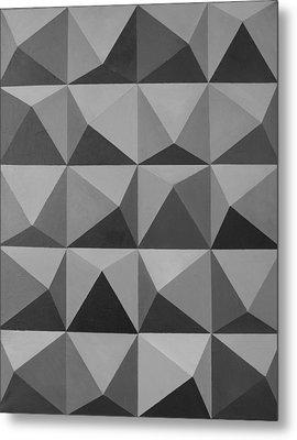 Minimalist Wall Decor Black And White Metal Print by Magdalena Walulik