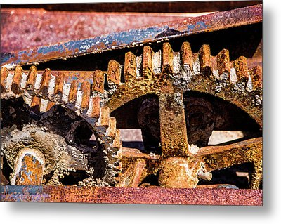 Metal Print featuring the photograph Mining Gears by Onyonet  Photo Studios