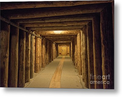 Metal Print featuring the photograph Mining Tunnel by Juli Scalzi