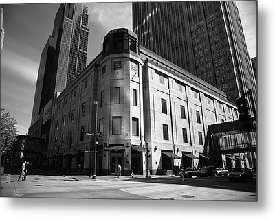 Metal Print featuring the photograph Minneapolis Downtown Bw by Frank Romeo