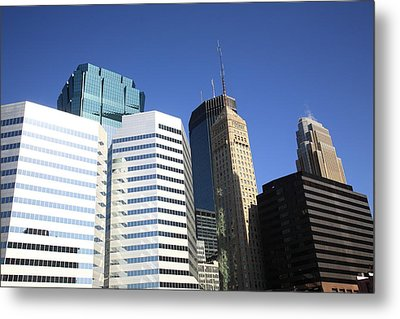 Metal Print featuring the photograph Minneapolis Skyscrapers 11 by Frank Romeo