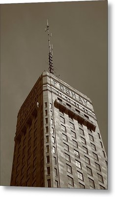 Metal Print featuring the photograph Minneapolis Tower 6 Sepia by Frank Romeo