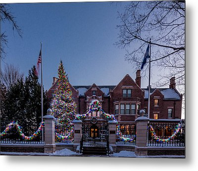 Christmas Lights Series #6 - Minnesota Governor's Mansion Metal Print