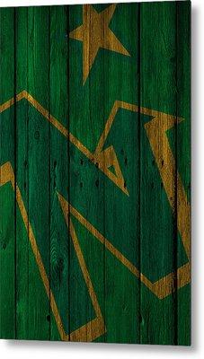 Minnesota North Stars Wood Fence Metal Print