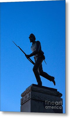 Minnesota Soldier Monument At Gettysburg Metal Print by John Greim